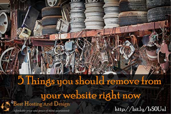 5 Things you should remove from your website right now