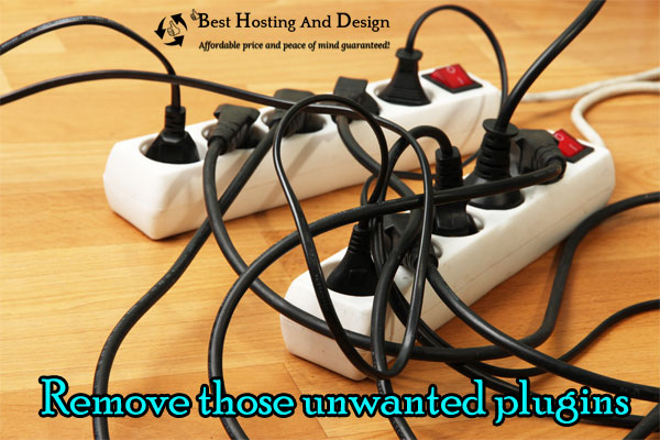 Remove those unwanted plugins