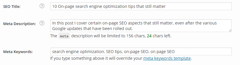 Meta details - WordPress SEO by Yoast