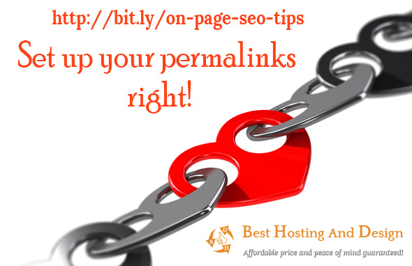 Set up your permalinks right!