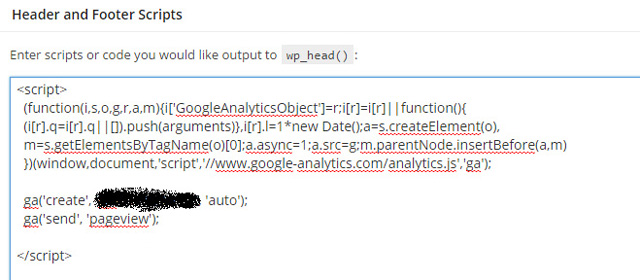 Google Analytics Header and Footer Scripts