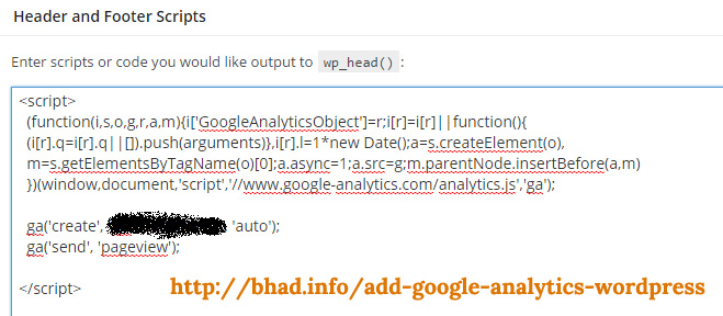 Google Analytics - Header and Footer Scripts