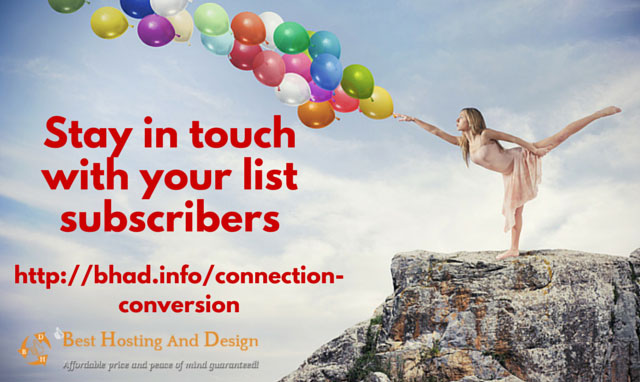 Stay in touch with your list subscribers