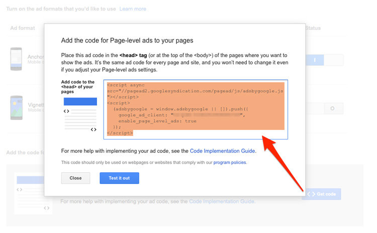Ad-code-for-page-level-ads