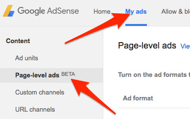 Page-leve-ads-beta