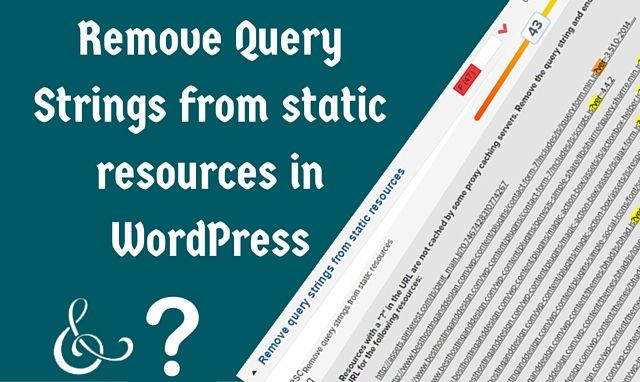 How to remove query strings from CSS and JS in WordPress?