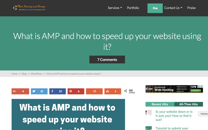 Non-amp version of a web page