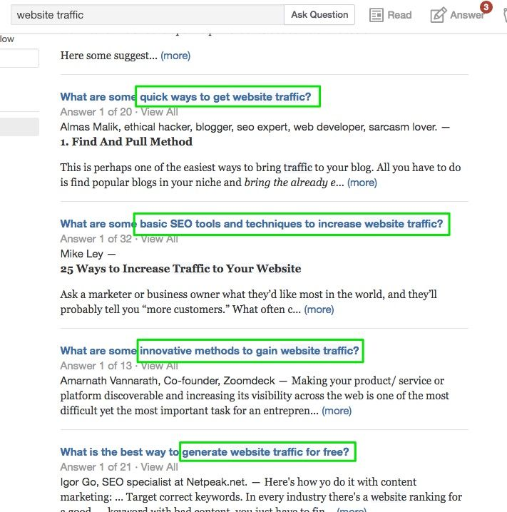 Quora_search_website_traffic