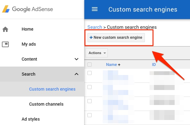 New custom search