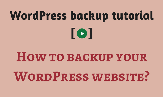 How to backup your WordPress site before installing new themes or plugins