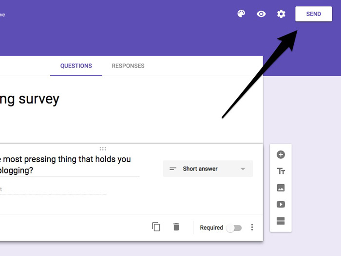 Save google forms