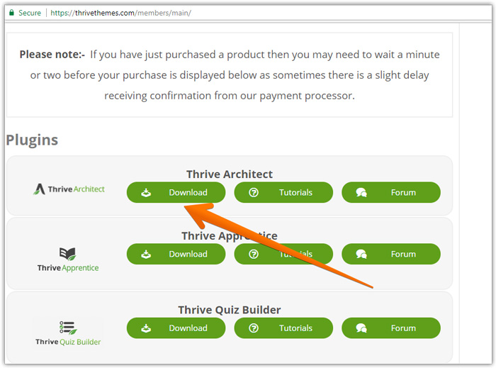 Thrive themes Thrive Architect download