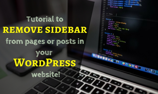 How to remove the sidebar in your WordPress website