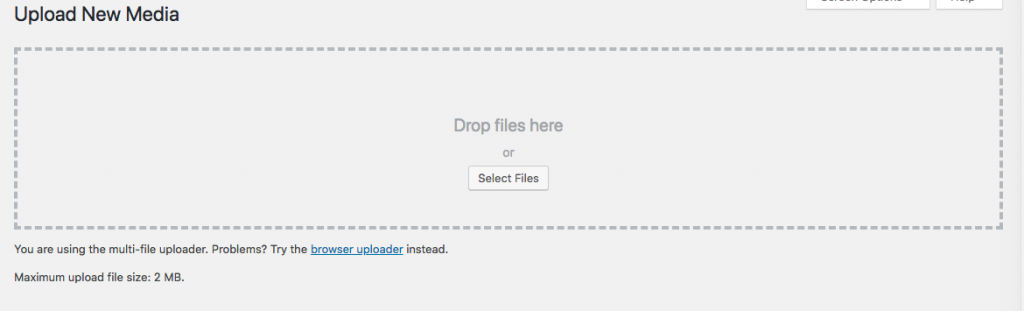 Select media file to upload