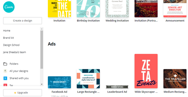 facebook ad canva