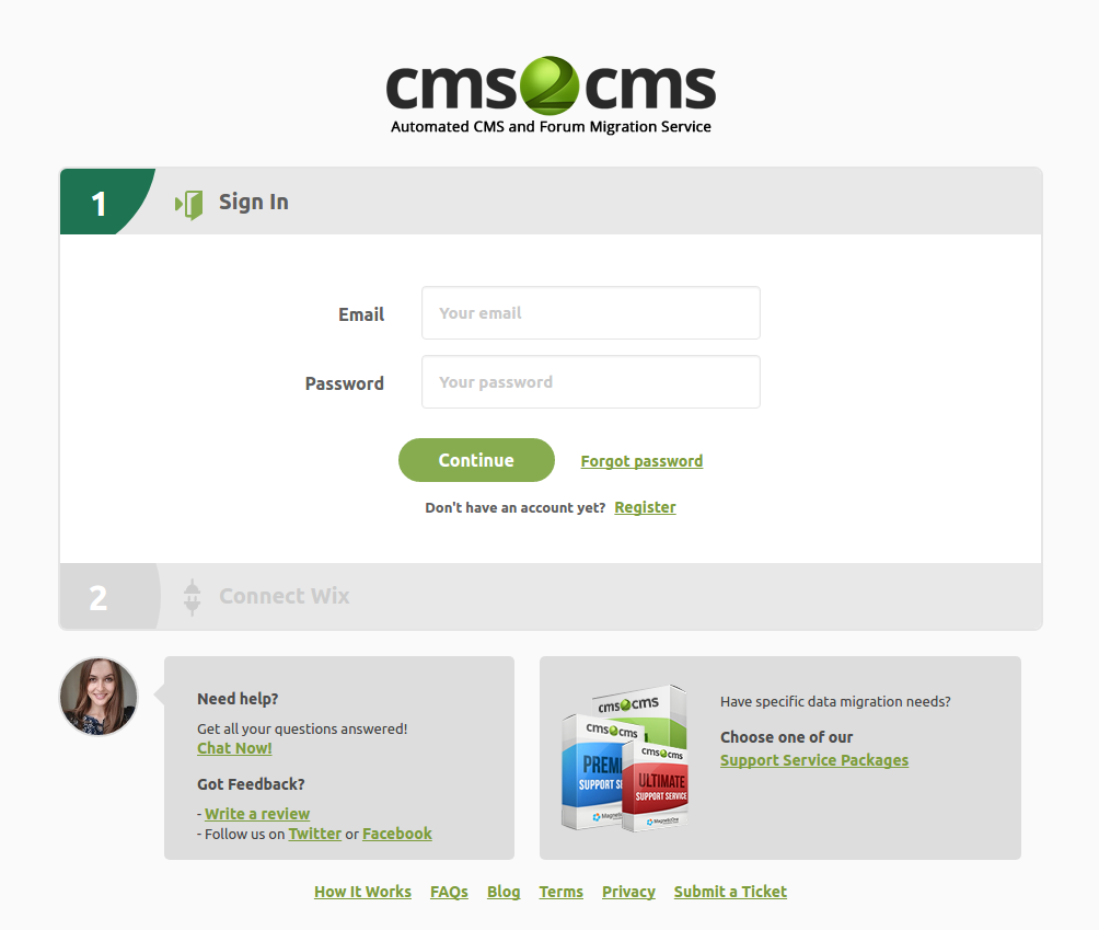 CMS2CMS Automated WiX To WordPress Migration Plugin