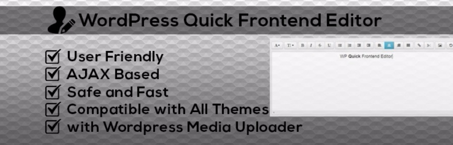WordPress Quick Front-end Editor