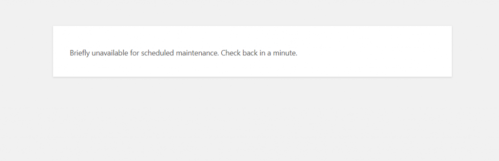 Tutorial to fix: Briefly unavailable for scheduled maintenance 1
