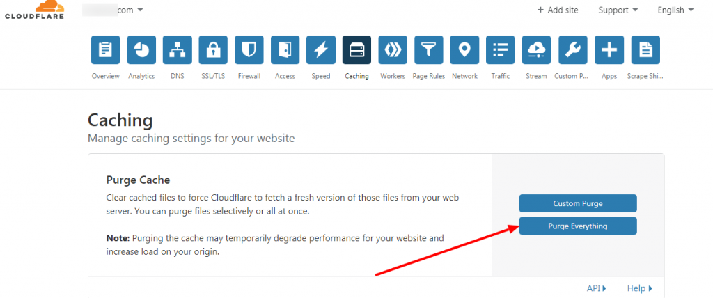 cache clear cloudflare